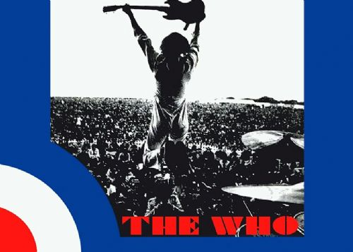 THE WHO - Stage Retro logo canvas print - self adhesive poster - photo print